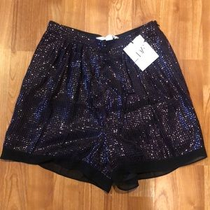DVF sequin shorts